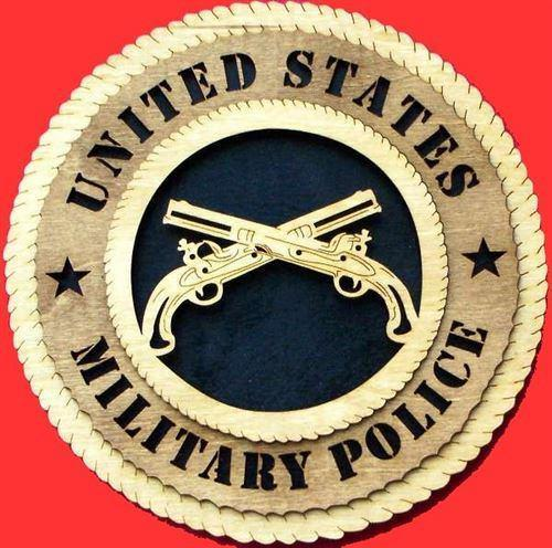Handcrafted Military Police Plaques
