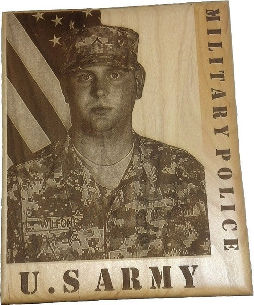 Laser Pics and Gifts: Engraved Military Photo - Laser Pics & Gifts