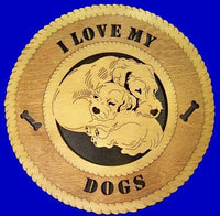 "Laser Pics and Gifts: 12"" MOM AND PUP Dog Plaque - Laser Pics & Gifts"