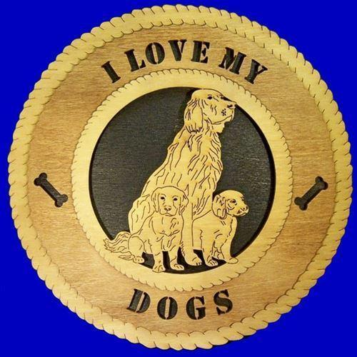 Laser Pics and Gifts:  MOM AND PUPPIES Dog Plaque - Laser Pics & Gifts