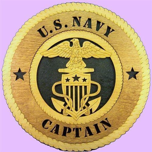 "Laser Pics and Gifts: 12"" NAVY CAPTAIN Military Plaque - Laser Pics & Gifts"