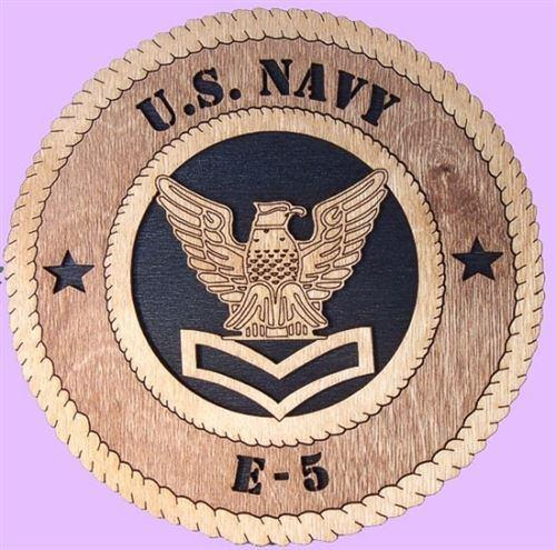 Laser Pics and Gifts: NAVY E-5 Military Plaque - Laser Pics & Gifts