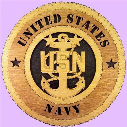 Laser Pics and Gifts: NAVY E-8 SENIOR CHIEF Military Plaque - Laser Pics & Gifts