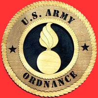 Laser Pics and Gifts: ORDNANCE Military Plaque - Laser Pics & Gifts