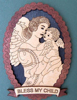 "Laser Pics and Gifts: 12"" OVAL ANGEL & BABY Spiritual Plaque - Laser Pics & Gifts"