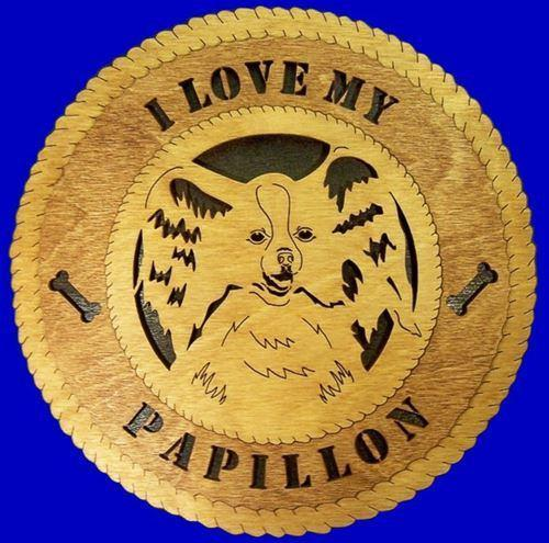 Laser Pics and Gifts:  PAPILLION Dog Plaque - Laser Pics & Gifts