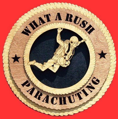 Laser Pics and Gifts:  PARACHUTING Plaque - Laser Pics & Gifts