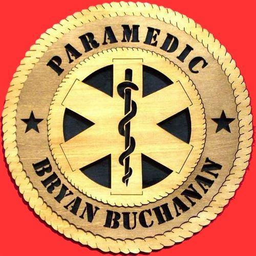 "Laser Pics and Gifts: 12"" PARAMEDIC Professional Plaque - Laser Pics & Gifts"