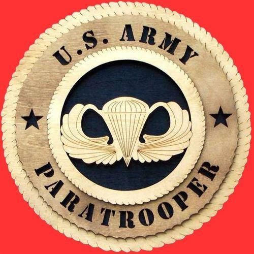 Laser Pics and Gifts: PARATROOPER Military Plaque - Laser Pics & Gifts