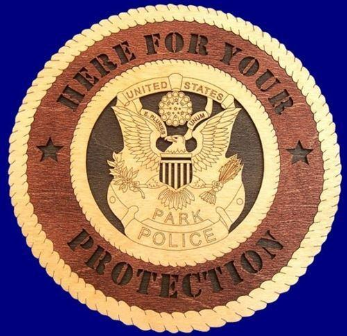 "Laser Pics and Gifts: 12"" PARK POLICE Professional Plaque - Laser Pics & Gifts"
