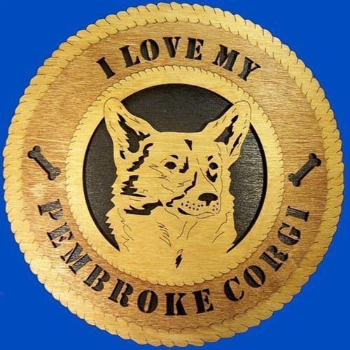 Laser Pics and Gifts:  PEMBROKE CORGI Dog Plaque - Laser Pics & Gifts