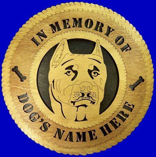 "Laser Pics and Gifts: 12"" PIT BULL Dog Plaque - Laser Pics & Gifts"