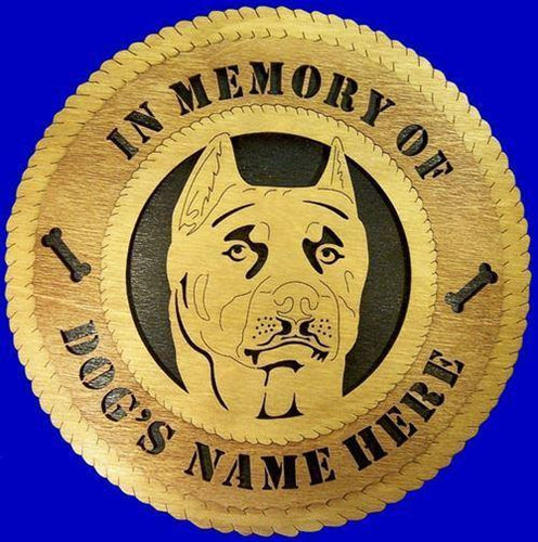 Laser Pics and Gifts:  PIT BULL Dog Plaque - Laser Pics & Gifts