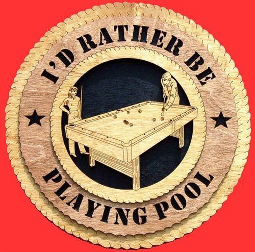 PLAYING POOL Plaque