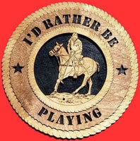 Laser Pics and Gifts:  POLO HORSE  Plaque - Laser Pics & Gifts