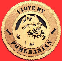 "Laser Pics and Gifts: 12"" POMERANIAN Dog Plaque - Laser Pics & Gifts"