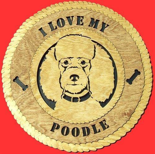 Laser Pics and Gifts:  POODLE Dog Plaque - Laser Pics & Gifts