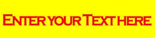 Yellow with Red Text Engraved Electrical Label -  5