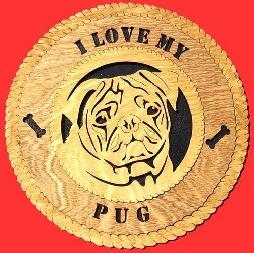 Laser Pics and Gifts:  PUG Dog Plaque - Laser Pics & Gifts