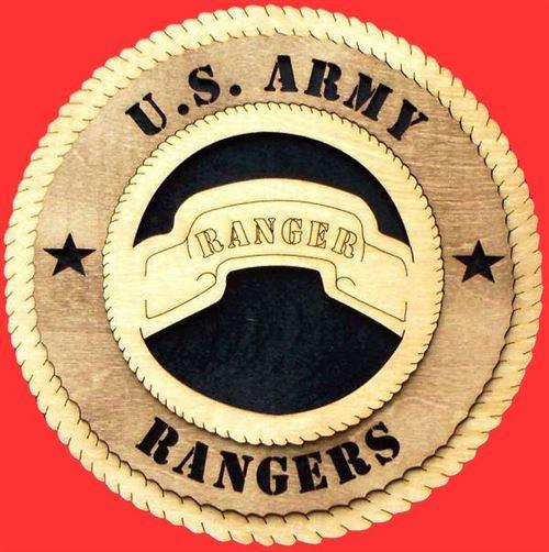 "Laser Pics and Gifts: 12"" RANGER Military Plaque - Laser Pics & Gifts"