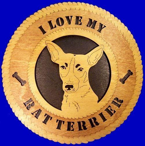 Laser Pics and Gifts:  RAT TERRIER Dog Plaque - Laser Pics & Gifts