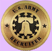 "Laser Pics and Gifts: 12"" RECRUITER Military Plaque - Laser Pics & Gifts"