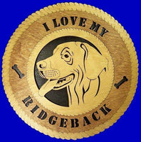 Laser Pics and Gifts:  RHODESIAN Dog Plaque - Laser Pics & Gifts