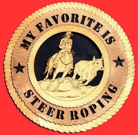 "Laser Pics and Gifts: 12"" ROPING STEER Plaque - Laser Pics & Gifts"