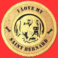 "Laser Pics and Gifts: 12"" SAINT BERNARD Dog Plaque - Laser Pics & Gifts"