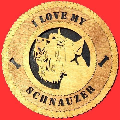 SCHNAUZER Dog Plaque