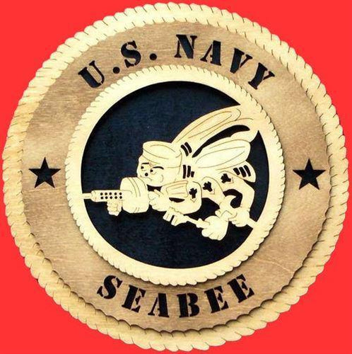 SEABEE Military Plaque