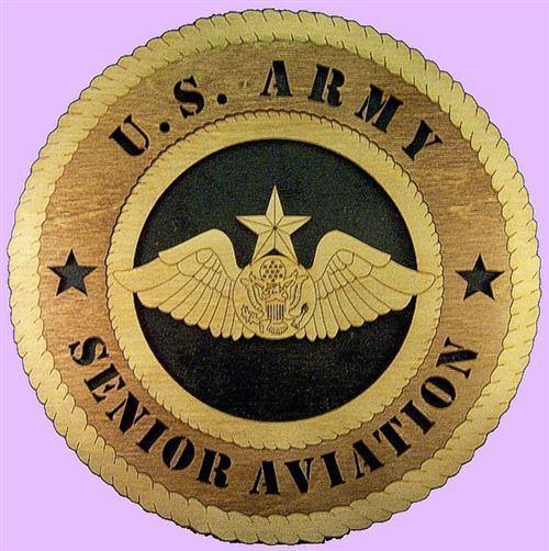 Laser Pics and Gifts:  SENIOR AVIATION WINGS Military Plaque - Laser Pics & Gifts