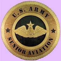 "Laser Pics and Gifts: 12"" SENIOR AVIATION WINGS Military Plaque - Laser Pics & Gifts"