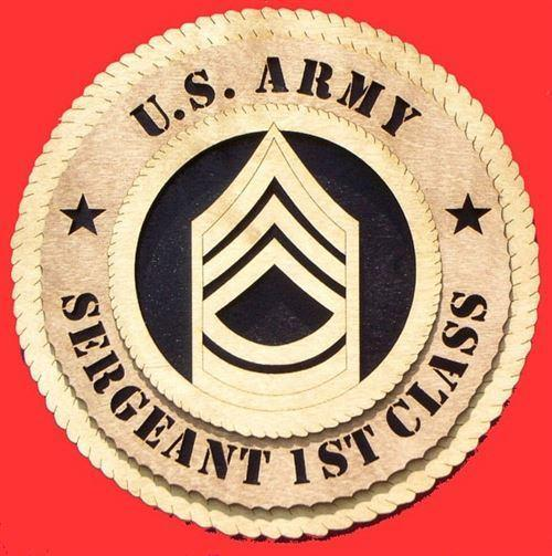 Laser Pics and Gifts:  SERGEANT 1ST CLASS Military Plaque - Laser Pics & Gifts
