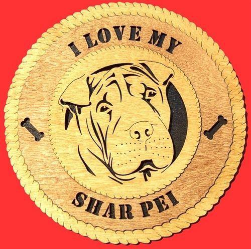 SHAR-PEI Dog Plaque