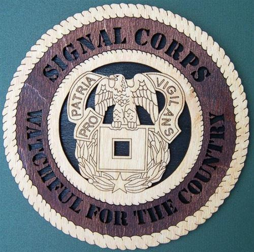 "Laser Pics and Gifts: 12"" SIGNAL CORPS UNIT Military Plaque - Laser Pics & Gifts"