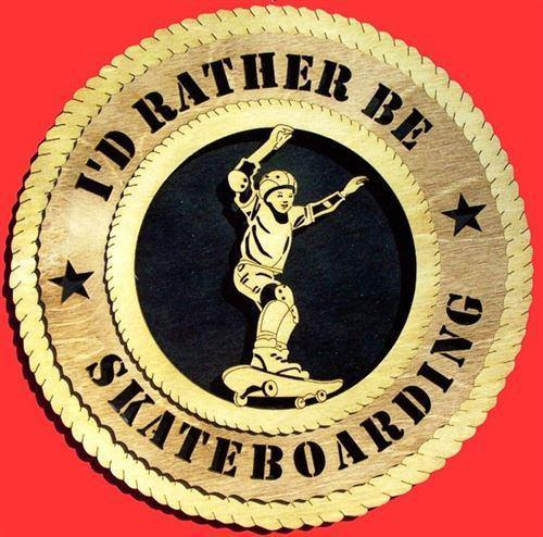Laser Pics and Gifts:  SKATEBOARDING Plaque - Laser Pics & Gifts