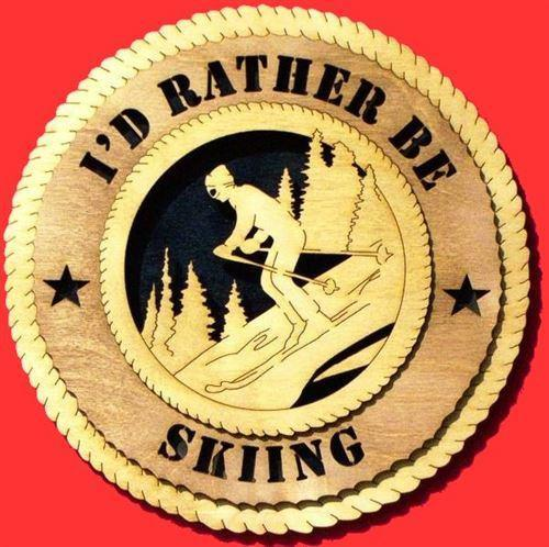 Laser Pics and Gifts:  SKIING Plaque - Laser Pics & Gifts