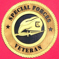 "Laser Pics and Gifts: 12"" SPECIAL FORCES Military Plaque - Laser Pics & Gifts"