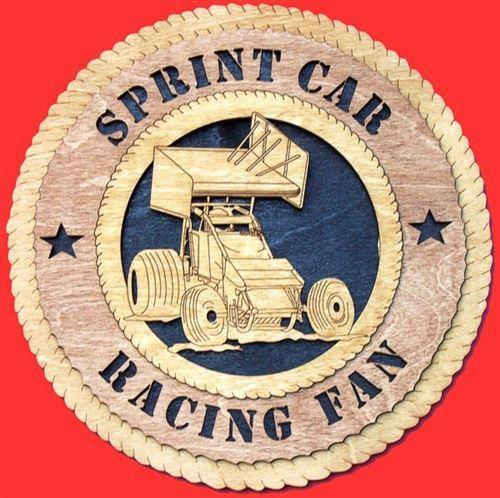 Laser Pics and Gifts:  SPRINT CAR RACER Plaque - Laser Pics & Gifts