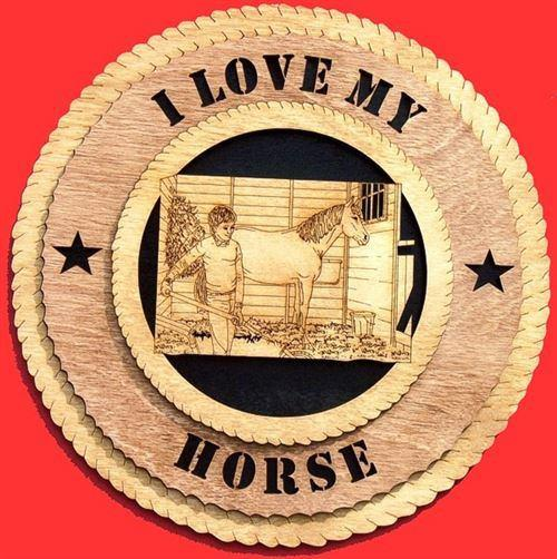 "Laser Pics and Gifts: 12"" STABLE Plaque - Laser Pics & Gifts"