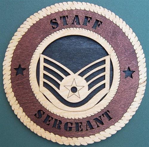 Laser Pics and Gifts:  STAFF SERGEANT Military Plaque - Laser Pics & Gifts