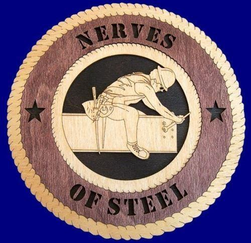 Laser Pics and Gifts:  STEEL IRON WORKER Professional Plaque - Laser Pics & Gifts