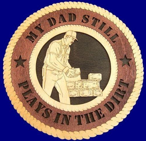"Laser Pics and Gifts: 12"" STONE MASON Professional Plaque - Laser Pics & Gifts"