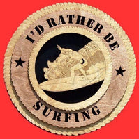 "Laser Pics and Gifts: 12"" SURFING Plaque - Laser Pics & Gifts"