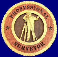 "Laser Pics and Gifts: 12"" SURVEYOR  Professional Plaque - Laser Pics & Gifts"