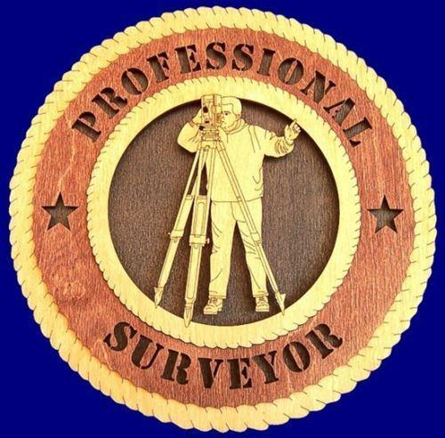 Laser Pics and Gifts:  SURVEYOR  Professional Plaque - Laser Pics & Gifts