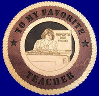 "Laser Pics and Gifts: 12"" TEACHER Professional Plaque - Laser Pics & Gifts"