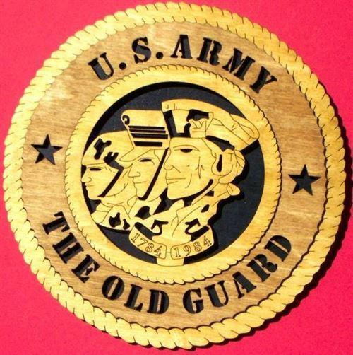 Laser Pics and Gifts:  THE OLD GUARD Military Plaque - Laser Pics & Gifts