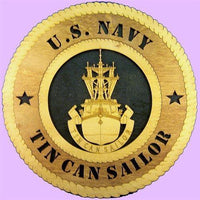 "Laser Pics and Gifts: 12"" TIN CAN SAILOR Military Plaque - Laser Pics & Gifts"